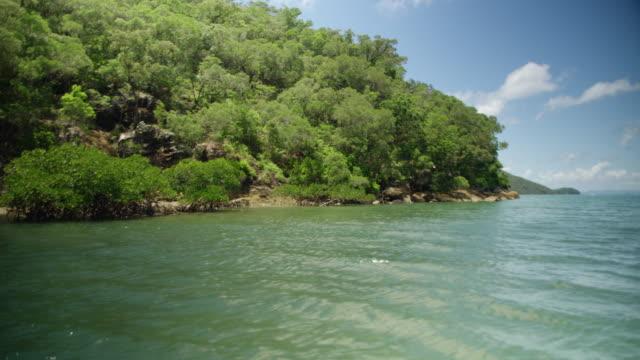Sailing through an uninhabited island