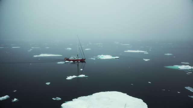 stockvideo's en b-roll-footage met sailing through the sea ice at svalbard - environmental issues