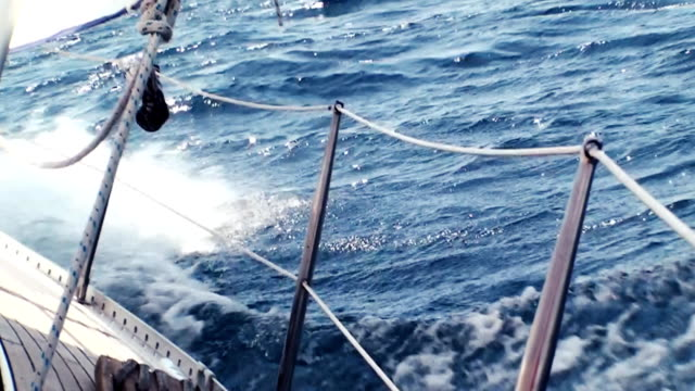 hd: sailing through the waves - sailor stock videos & royalty-free footage
