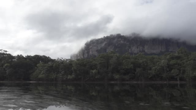 Sailing to the Angel's Falls in Canaima National Park,Venezuela