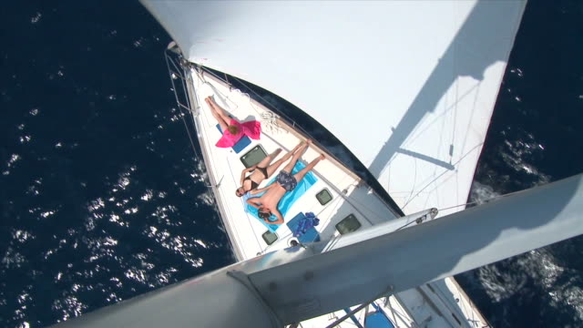 hd: sailing - sunbathing stock videos and b-roll footage
