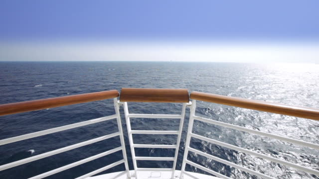 HD Sailing view from the bow of a cruise ship