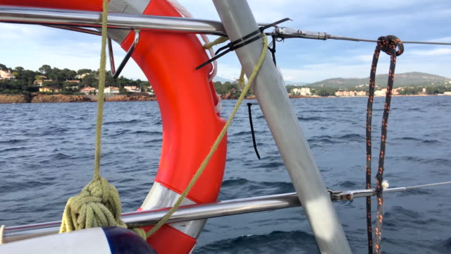 Sailing with safety equipment