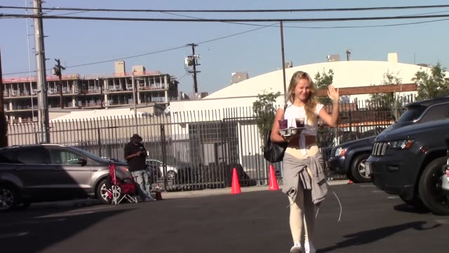 sailor brinkleycook arrives at the dwts rehearsal studio in hollywood in celebrity sightings in los angeles - dancing with the stars stock videos & royalty-free footage