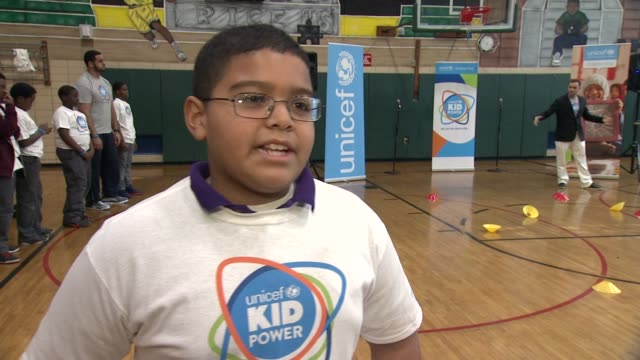 INTERVIEW Sailor Garcia talks about why he likes participating in this event says it is fun at UNICEF Kid Power Kicks off in New York with Former New...