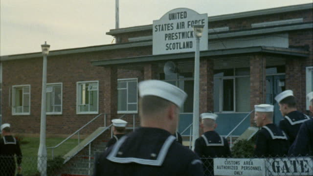 1967 MS Sailors arriving at United States European Command headquarters / Scotland, United Kingdom