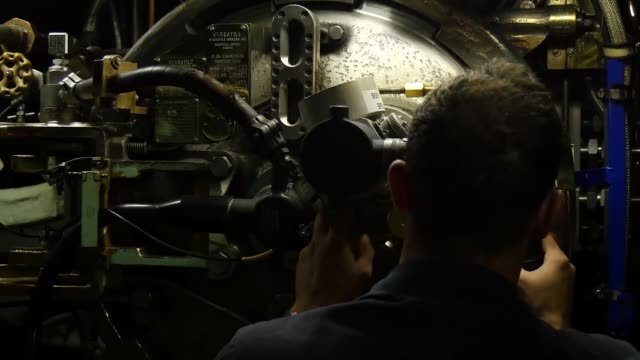 sailors assigned to los angeles-class nuclear powered fast-attack submarine uss olympia prepare to launch a ugm-84 harpoon missile during the rim of... - nuclear missile launch stock videos & royalty-free footage