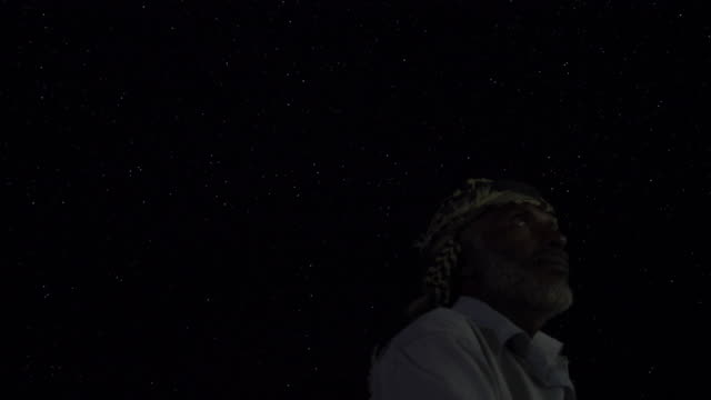 sailors look at the starry night sky - aden stock videos & royalty-free footage