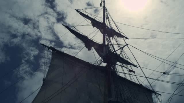 sails and mast of tall ship, grenada - rigging nautical stock videos & royalty-free footage