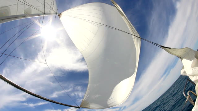 sails and sun - rigging nautical stock videos & royalty-free footage