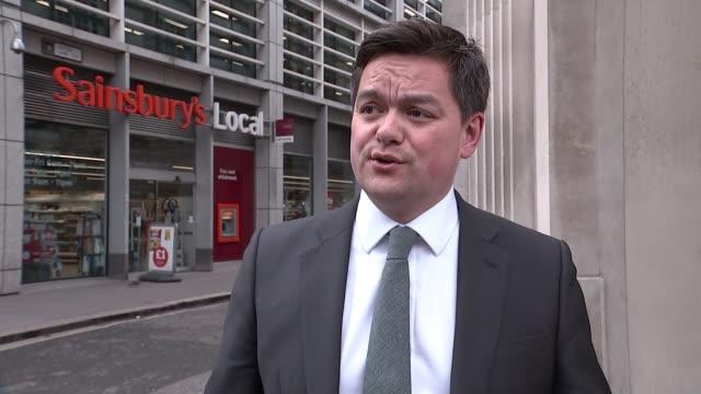 sainsbury's and asda announce merger plans london richard lim interview sot - richard sainsbury stock videos & royalty-free footage