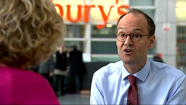 sainsbury's embarks on price war with discount stores fille date unknown london sainsbury's supermarket buillding int various shots people shopping... - price stock videos and b-roll footage