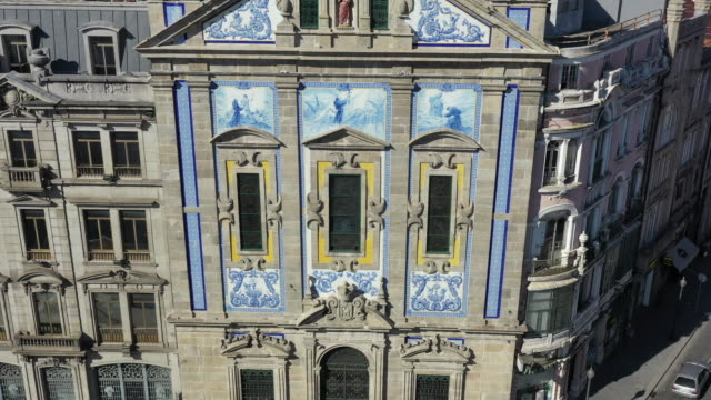 saint anthony's church congregados (igreja de santo antonio dos congregados) / porto, portugal - porto district portugal stock videos & royalty-free footage