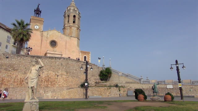 Saint Bartholomew Church on a Sunny Day in Sitges Spain