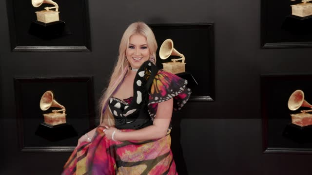 stockvideo's en b-roll-footage met saint heart at the 61st grammy awards arrivals at staples center on february 10 2019 in los angeles california – editorial - grammy awards