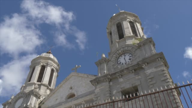 saint john's cathedral, st. john's, antigua, antigua and barbuda, caribbean sea, west indies, caribbean, central america - valletta stock videos & royalty-free footage