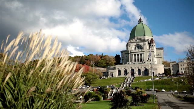 saint joseph's oratory in autumn, montreal, quebec - christianity stock videos & royalty-free footage