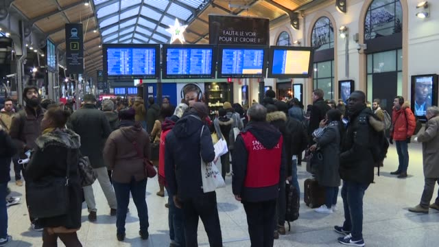 saint lazare station in central paris was teaming with travellers this morning as commuters head back to work after the holidays - head back stock videos & royalty-free footage