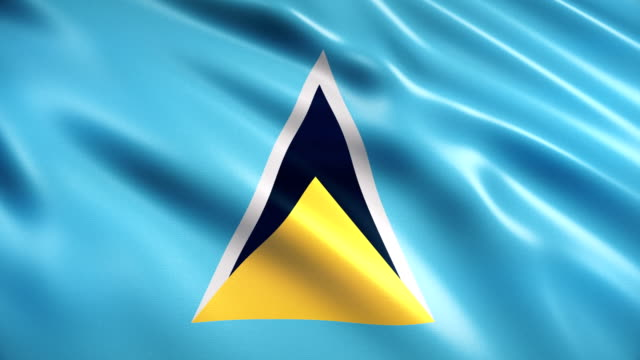 saint lucia flag - st. lucia stock videos & royalty-free footage