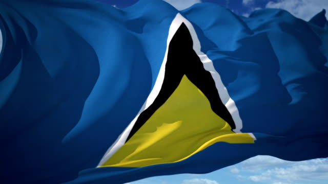 saint lucia flag - st lucia stock videos & royalty-free footage
