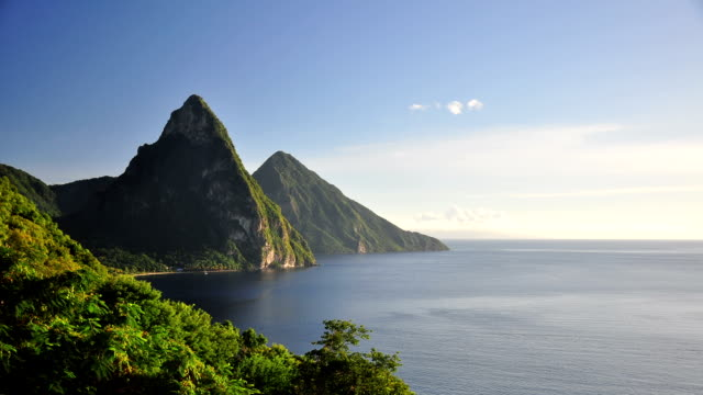 t/l saint lucia sunset - st lucia stock videos & royalty-free footage