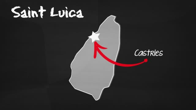 saint lucie map - st. lucia stock videos & royalty-free footage