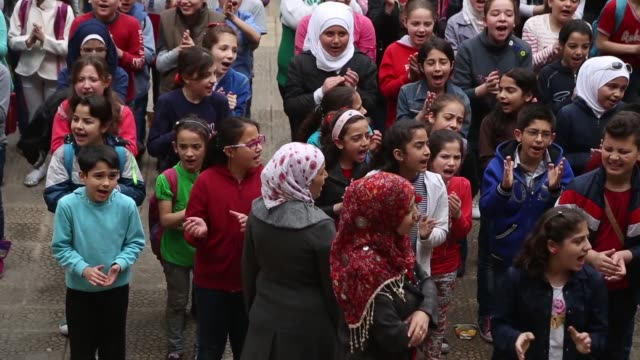 Saint Marie school is largest in Aleppo No only christians but a muslims children studies in this school
