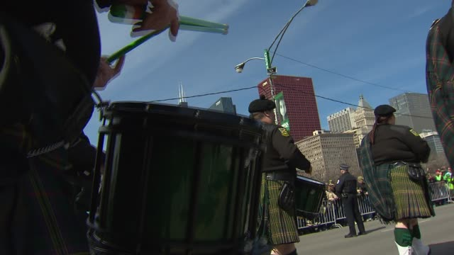 saint patrick's day parade on march 14, 2015 in chicago, illinois. - parade stock videos & royalty-free footage