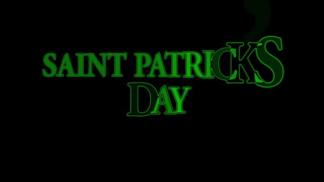 saint patrick's day - st. patrick's day stock videos and b-roll footage