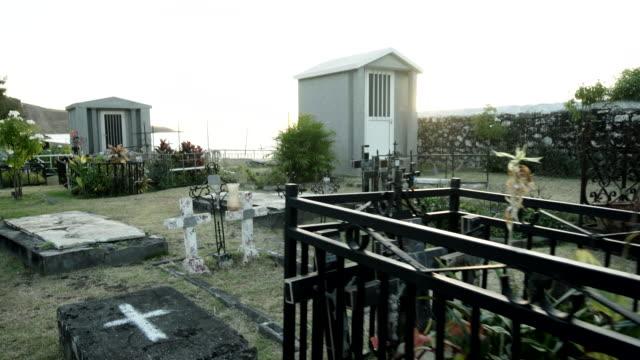 saint paul marine cemetery, reunion - saint paul stock-videos und b-roll-filmmaterial