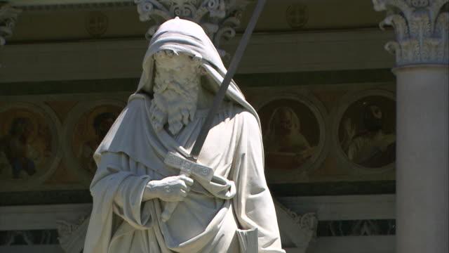 saint paul ouside the walls, rome - saint paul stock-videos und b-roll-filmmaterial