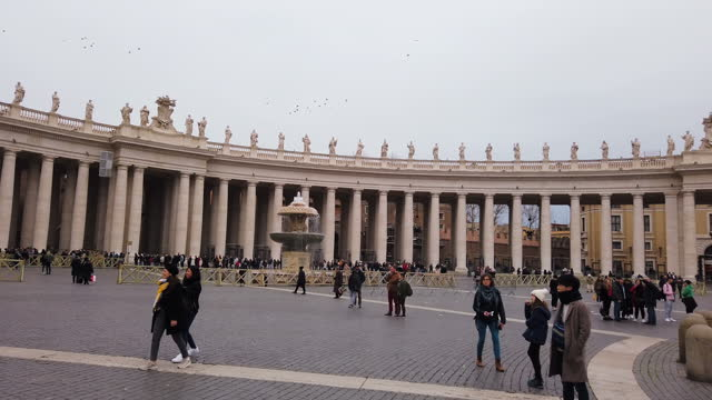 saint peter basilica in the vatican - st peter's square stock videos & royalty-free footage