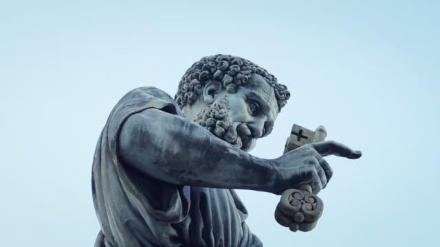 聖ピーターバチカン、ローマの女神 - サンピエトロ寺院点の映像素材/bロール