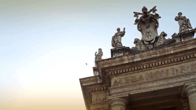 saint peter's square in vatican, rome - basilica stock videos and b-roll footage