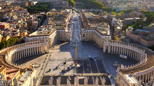 saint peter's square in vatican , rome - state of the vatican city stock videos & royalty-free footage