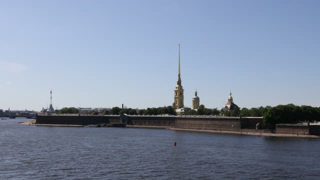 saint petersburg, general view of peter and paul fortress. - st. petersburg russia stock videos & royalty-free footage