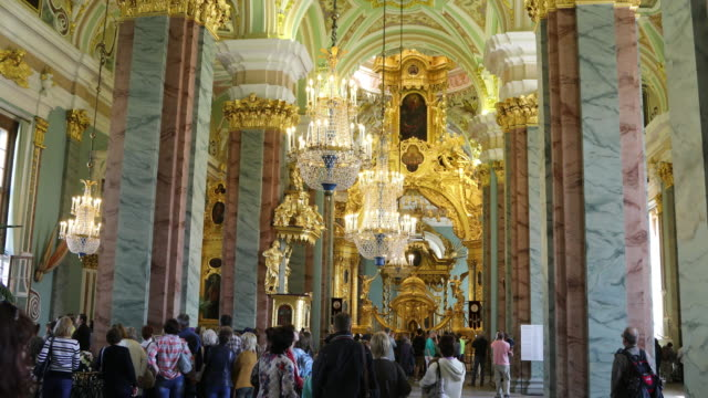 Saint Petersburg, interior view of the Peter and Paul Cathedral in the complex Peter Paul and fortress.