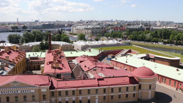 saint petersburg, view of the peter and paul fortress complex. - fortress stock videos & royalty-free footage