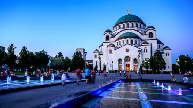 saint sava temple timelapse in belgrade - belgrade serbia stock videos and b-roll footage