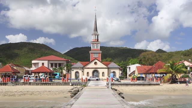 vidéos et rushes de saint-henri church in the bourg des anses darlet, martinique. - martinique