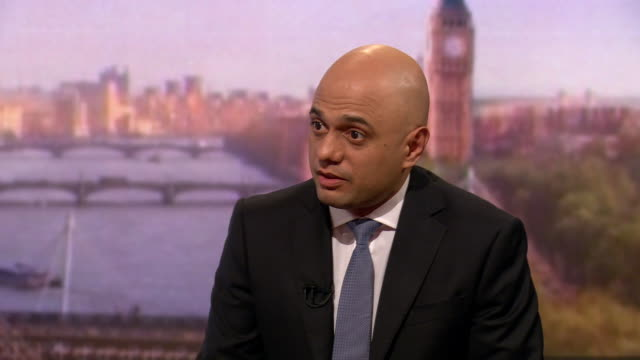 sajid javid explaining why he feels he makes a suitable candidate in the conservative leadership race - home secretary stock videos & royalty-free footage