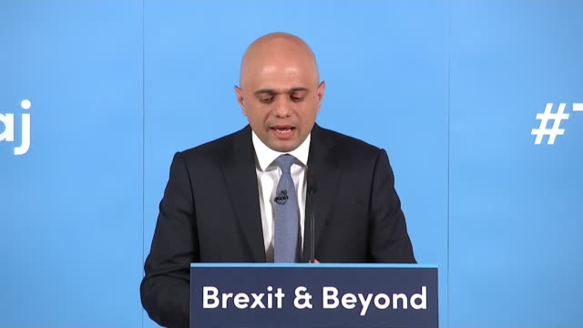 sajid javid launches his conservative leadership bid introduced by ruth davidson msp he says boris johnson is yesterday's news - leadership stock videos & royalty-free footage