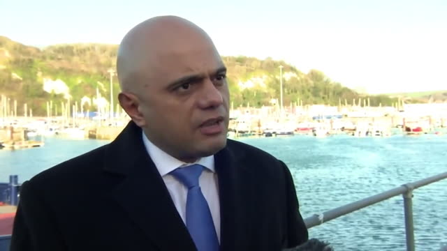 sajid javid questioning why migrants attempting to cross the english channel into the uk did not seek asylum in the first safe country they arrived in - sajid javid stock videos & royalty-free footage