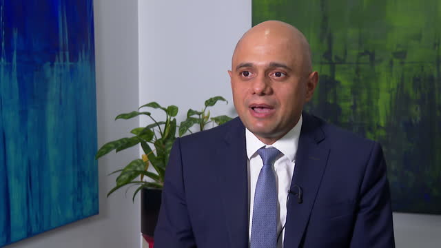 """sajid javid saying boris johnson """"believes in equal values and respects everyone of any background and community"""" - report document stock videos & royalty-free footage"""