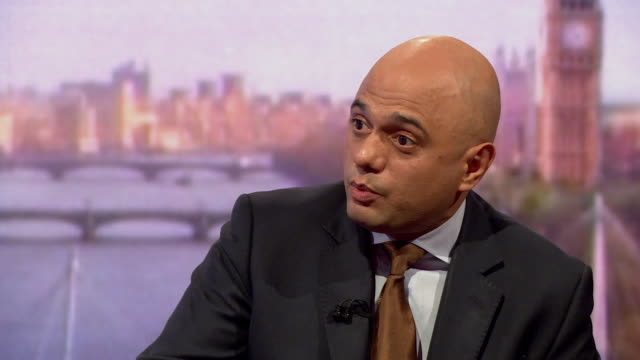 Sajid Javid saying Canada's trading model has a lot to commend about it but that it doesn't have the challenge of the Irish border