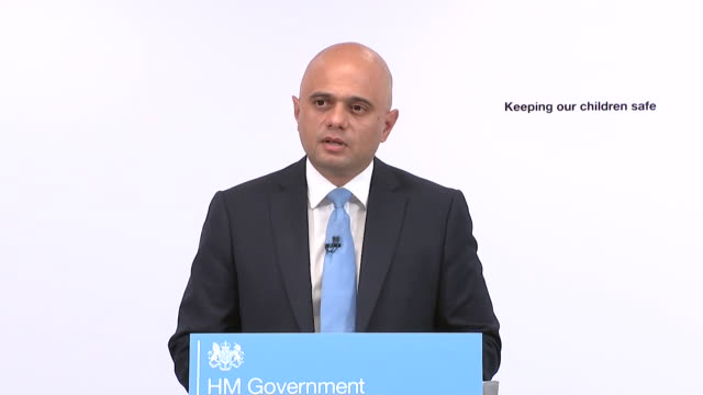 sajid javid saying he is demanding tech giants take steps to remove violent content and images of sexual abuse online and that he is not afraid to... - public speaker stock videos and b-roll footage