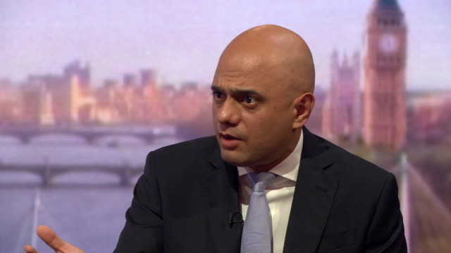 sajid javid saying it has only been in recent months where the 20000 cap for skilled migrants into the uk has been hit - sajid javid stock videos & royalty-free footage
