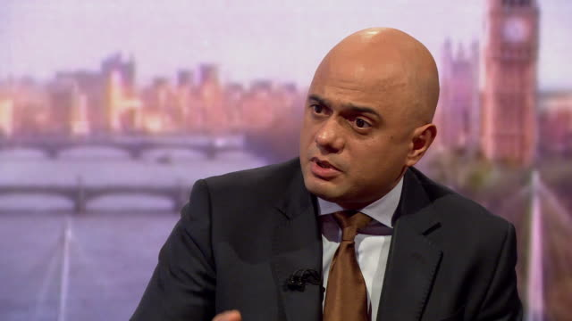 sajid javid saying roughly half of the people affected by the windrush scandal were victims under a labour government and that some of them are still... - sajid javid stock videos & royalty-free footage