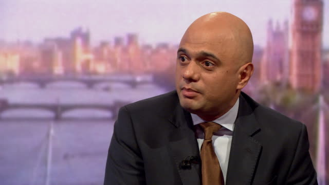 sajid javid saying the conservative party is not looking for a new leader because we are lucky to have theresa may as leader and prime minister and... - sajid javid stock videos & royalty-free footage