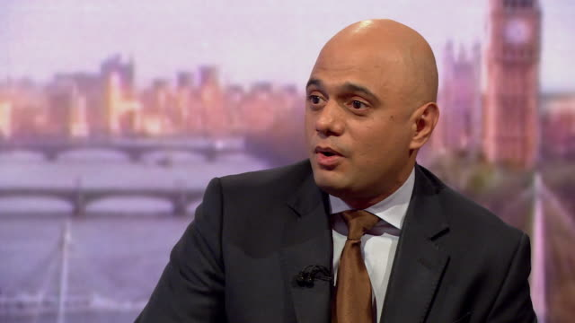 sajid javid saying the criticism of boris johnson's comparison of the chequers brexit proposal to a suicide bomber is a reminder to us all to use... - sajid javid stock videos & royalty-free footage